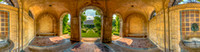 George Eastman House West Garden 360 panoramic view through arches