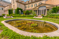 George Eastman House East Garden Lilly pond reflection